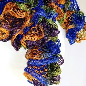 Accessories - FRILLY Multi-Color Scarf #hundredsofscarves